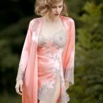 Déshabillé long + Combinette Marjolaine Lingerie - printemps/été 2012