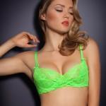 Lingerie Margot vert fluo Agent Provocateur été 2013