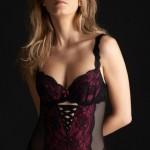 Lingerie Millesia Séduction body noir/fushia - automne/hiver 2013