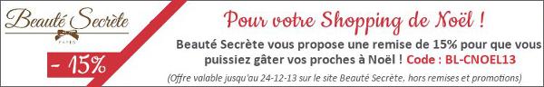 Code Réduction Lingerie Beauté Secrète Noël 2013
