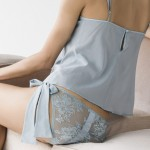 Lingerie Esme silk georgette camisole and bow tie brief - Fleur of England 2014