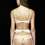 Bridal silk suspender
