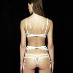 Bridal silk thong