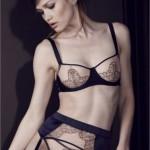 Silk bra & thong & suspender belt