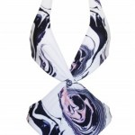 Ripple Print Cut-Out Swimsuit